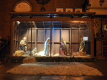 The Christmas Manger at Night
